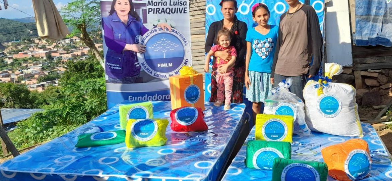 Entrega de ayuda humanitaria en el Cúcuta