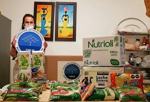 Entrega de ayudas alimentarias a 146 personas en Monterrey, Nuevo León.
