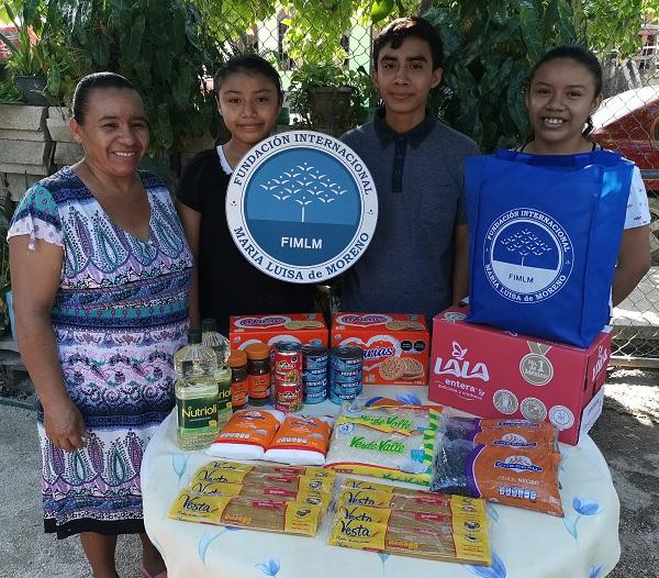 Brindamos un mensaje de esperanza a familias de Cancún, Quintana Roo quienes por motivo de la pandemia del Covid- 19, perdieron sus ingresos.