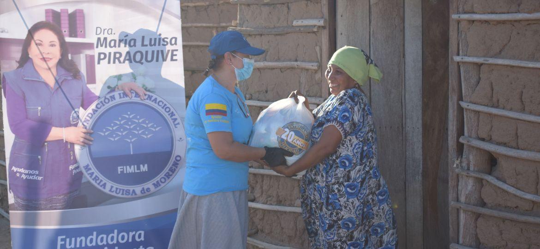 Entrega de mercados a 20 familias en la Ranchería Jasaishiao La Guajira