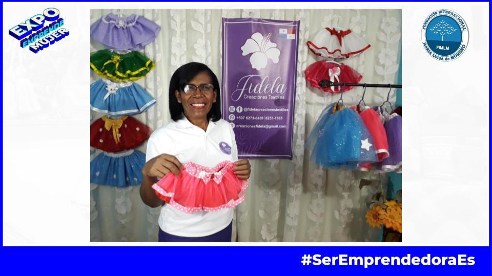 Fidela Confecciones textiles en Expo Emprende Mujer 2021