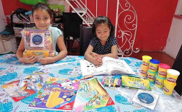 Apoyamos el desarrollo niños de la primera infancia con la entrega de kits didácticos.