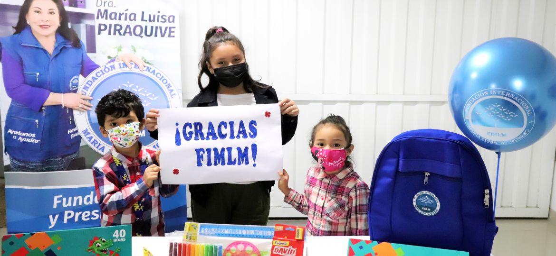 Entrega de kits escolares en Lima Centro, Perú. Abril 2021