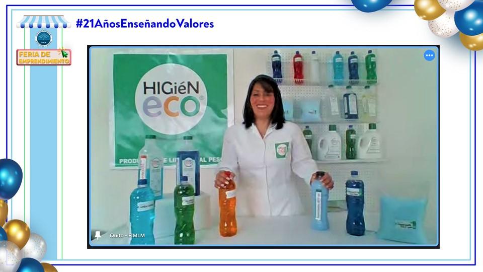Emprendedora Ecuador Stand Higieneco