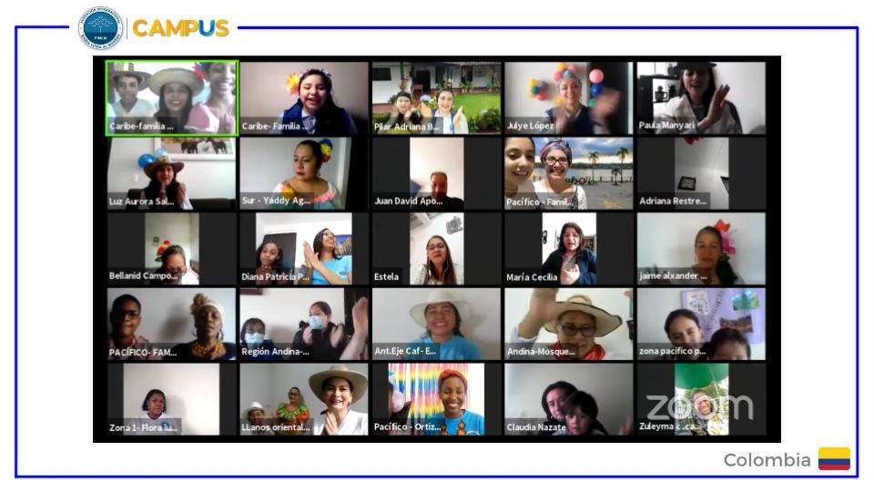 Encuentro virtual de familias de los estudiantes de Despertar Emprendedor de Colombia. Julio 2021