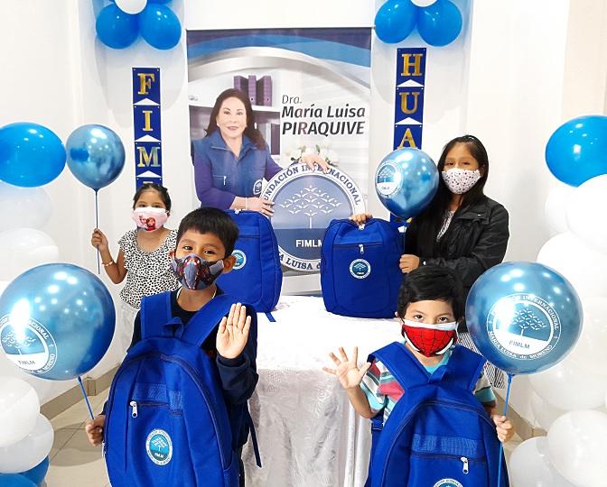 1 Portada ok entrega de Kits escolares en Peru ciudad huacho y barranca