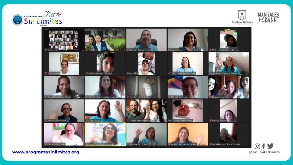 Segundo encuentro de familias del proyecto Emprendedores Sin Límites. Septiembre 2021